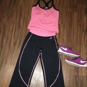 BCG Pink and Black Workout Set